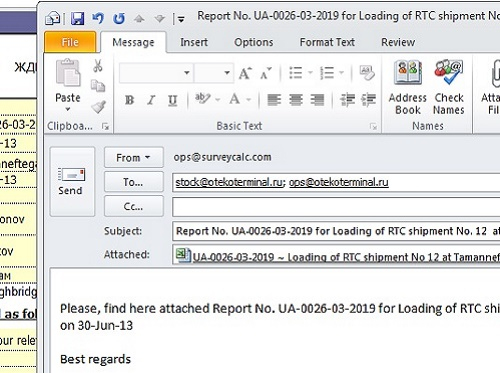 Email Data Report - Office 2010