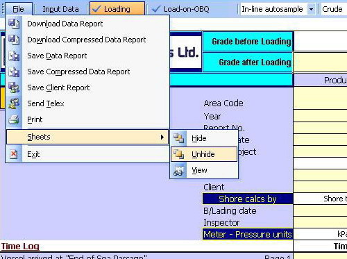 File Menu - Office 2003