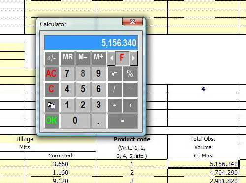 Calculator - Office 2007
