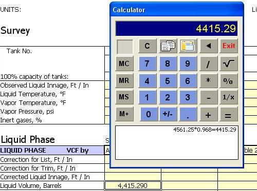 Calculator - Office 2003
