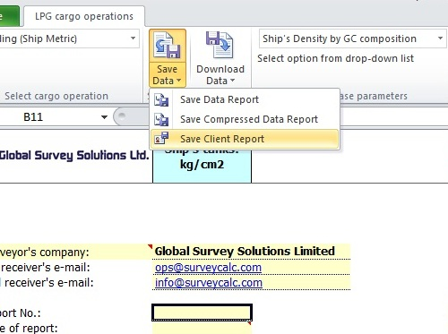 Petroleum, LPG, LNG, Chemicals, Dry Cargo Software, Table 54A, 54B