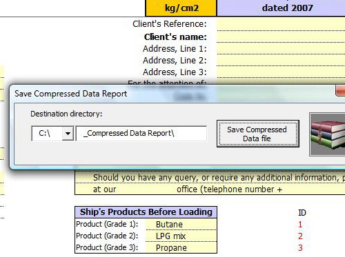 Save Compressed Data File - Office 2007